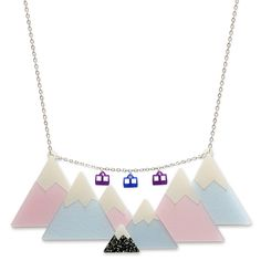 Mountain Range Necklace | Little Moose | Quirky jewellery and playful accessories that raise a smile and stand out from the crowd