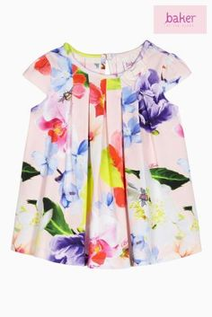 Green Baker By Ted Baker Forget Me Not Printed Dress