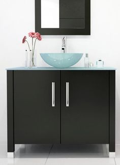 Sometimes, the simplest design is the most effective. Such is surely the case with this attractive modern vanity, which features a sleek and simple style that belies its unique, innate beauty.