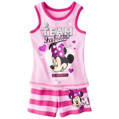 Disney Infant Toddler Girls 2 Piece Minnie Mouse Set - Pink Girls Pjs, Baby Girl Pajamas, Cute Girls, Toddler Girl Outfits, Kids Outfits, Toddler Girls, Target Clothes, Target Outfits, Little Girl Fashion