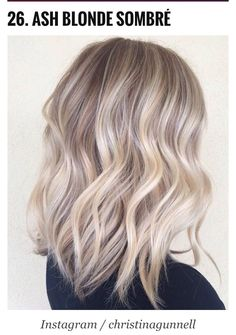 HAIR INSPO | ASH BLONDE SOMBRE | For more hair inspiration visit www.dontsweatthestewardess.com