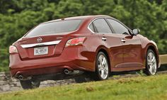 A rear view of the 2013 Nissan Altima.