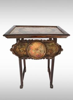 50% off-BEAUTIFUL ASIAN INFLUENCE VINTAGE CLAW FOOT MAHOGANY MAP TABLE