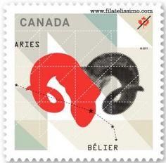 Signos del Zodiaco: Aries    Más info: http://www.filatelissimo.com/signos-del-zodiaco-aries/    #filatelia #sellos #aries #zodiaco #canada