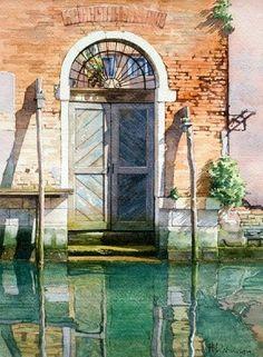 The Hidden House : 297 x 210 cms , David Morris #watercolor jd