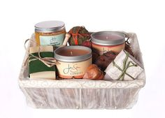 Pamper Her Mothers Day 5 piece Bath and Body Candle Gift Basket