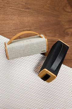 The House of Marley Riddim BT Portable Bluetooth Speaker comes complete with a leather carrying strap, so you can move your soundtrack with ease. Home Audio Speakers, Diy Speakers, Bluetooth Speakers, Wireless Sound System, Audio System, Waterproof Bluetooth Speaker, Tech Gifts, Boombox, Speaker Building