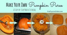 Step-by-Step tutorial for making and freezing your own pumpkin puree from regular pumpkins. You'll never go back to canned pumpkin again!
