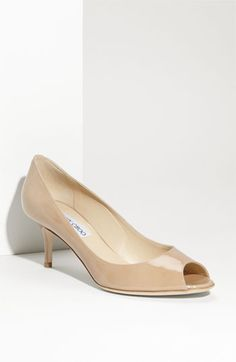 """Jimmy Choo 'Isabel"""".  Shoes!  I'm thinking an open toe patent leather pump in nude.  You pick the vendor, you pick the price point, you pick the heel height!  : )"""