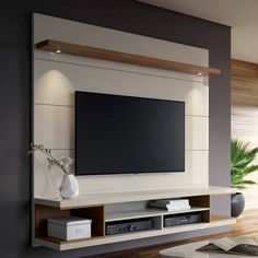 Tv cabinet design, tv unit design, wall unit designs, tv wall d Tv Wanddekor, Modern Tv Wall Units, Modern Tv Room, Wall Units For Tv, Modern Living, Wall Mounted Tv Unit, Minimalist Living, Small Living, Built In Tv Wall Unit