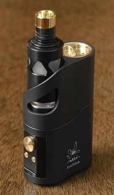 XvoStick by Mini Ecig - Super sexy looking mod. Small and compact, regulated temp control with the screen on the bottom.