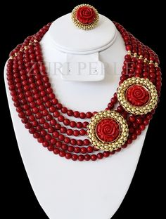 nigerian wedding traditional jewelry by zuri perle coral beads