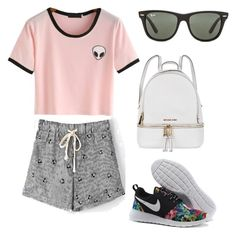 """""""Untitled #72"""" by averyhumeniuk on Polyvore featuring Ray-Ban and Michael Kors"""