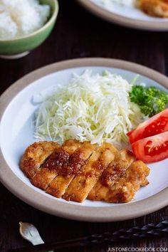 Tonteki (Japanese Pork Steak) トンテキ | Easy Japanese Recipes at JustOneCookbook.com