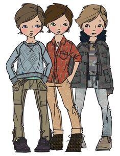 ethnic boyswear #KidsFashionIllustration