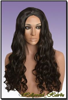 Hollywood_hair4u - Extra Long Wavy #2 Brown Black Mix Wig Kanekalon Heat Resistant Synthetic Fiber Skin Top *NEW* by Hollywood_hair4u. $53.99. Usually ships the same day with hair care instruction.. Color is #2 Brown Black Mix, Length is 23.5 inches / 60 cm. It is made from high quality Heat Resistant Kanekalon synthetic fibers, feels like human hair. Brand New Extra Long Wavy #2 Brown Black Mix Wig Kanekalon Heat Resistant Synthetic Fiber Skin Top. You can restyle t...