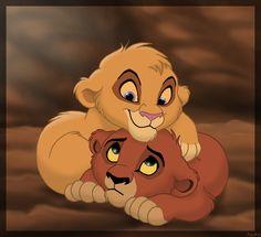Cute Little Furballs (Vitani and Kovu) Kiara Lion King, Lion King Simba's Pride, Kiara And Kovu, Lion King Fan Art, Lion King Baby, Simba And Nala, Lion King Series, Lion King Movie, Le Roi Lion Disney