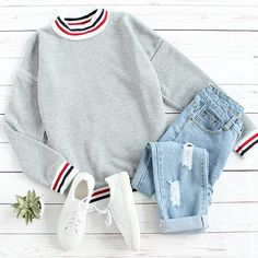 The classics for fall. #outfits #fallfashion #sweatshirt #ootd
