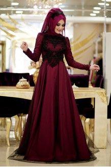 Zarif Tesettur Giyim Aksamustu Giysileri The Dress Elbise Modelleri