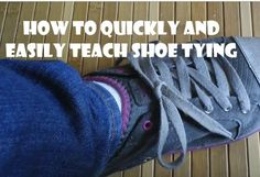 Having a hard time teaching your kids to tie their shoes? This quick and easy trick we learned from our occupational therapist had my son tying his shoes in less than 15 minutes. No muss, no fuss, even for special needs kids like my son with Asperger's!