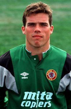 Sport, Football, Circa 1990, A portrait of Aston Villa goalkeeper Lee Butler Get premium, high resolution news photos at Getty Images