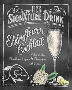 Signature Drink Signs Chalkboard style Prints for by RockinChalk Bar Drinks, Cocktail Drinks, Alcoholic Drinks, Yummy Drinks, Beverages, Chalkboard Designs, Chalkboard Art, Chalk Lettering, Drink Signs