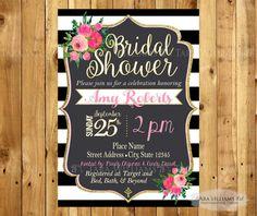 Kate Spade Inspired Bridal Shower Invitation  by TaraWilliamsArt