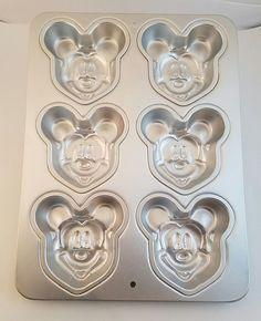 Disney Wilton Mickey Mouse Aluminum Cake Pan Cupcake Muffin Jello Mold 2105-3600   Collectibles, Kitchen & Home, Kitchenware   eBay!