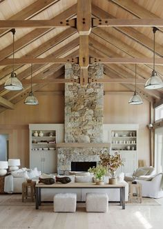 Emily Henderson Lake House Fixer Upper Mountain Home Decor Fireplace Ideas Rustic Refined Simple White Wood Stone 281