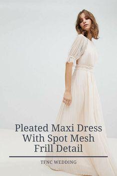 Pleated Maxi Dress #tfncwedding #tfnc #maxi #wedding #dress #weddingday #formal #weddingdress #marriage #bride #brideandgroom #bridesmaid #brides #dresses #weddingdresses  #bridal #bridalgown #gown #bridalgowns #gowns #white #offwhite #cream #creme