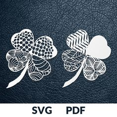 LUCKY CLOVER *>> *This download includes two designs as pictured above. You are buying the digital template of this cut only, not a finished cut. This file is ready to be used with your Cricut, Silhouette Cameo, Brother, or similar cutting machines. The template can be scaled to any