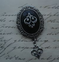 Black Victorian Broach