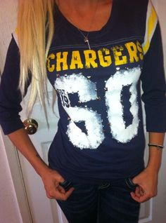 00b81e124 Victoria s Secret NFL BLING San Diego Chargers Jersey style T shirt top  RARE SM  VictoriasSecret  KnitTop  Casual