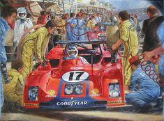 1973 24 Hours of Le Mans, Reutemann-Schenken, Ferrari 312P