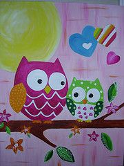 Owls I painted for my granddaughters