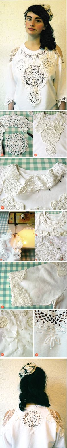 DIY DOILY JUMPER PROJECT by Spinster's Emporium