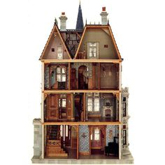 Victorian dolls and dollhouses ❤ liked on Polyvore featuring toys, backgrounds, decor, dollhouse and fillers