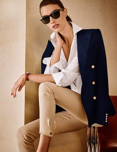 Preppy style à la Ralph Lauren #luxuryfashion #blazer