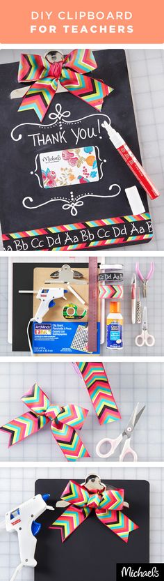 Give your child's teacher a gift they'll use time and time again. This adorable chalkboard clipboard is sure to make any teacher smile. Finish it off with a Michaels gift card for a gift that keeps on giving. Get everything you need to make this project at your local Michaels store.