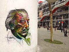 Une sélection des impressionnantes créations street art de l'artiste français Alexandre Monteiro, akaHOPARE, basé à Paris. Lettrages, visages, animaux, a