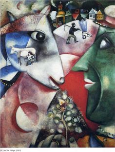 I and the Village -  Marc Chagall Cubism