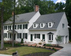 Exterior Photos Colonial Garage Addition Design, Pictures, Remodel, Decor and Ideas - page 7