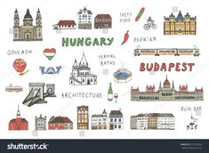 Find Budapest Hungary Attraction Color Set stock images in HD and millions of other royalty-free stock photos, illustrations and vectors in the Shutterstock collection. Tattoo Budapest, Budapest Thermal Baths, Bridge Drawing, Budapest Travel, Travel Drawing, Line Illustration, Line Patterns, Budapest Hungary, Travel Scrapbook
