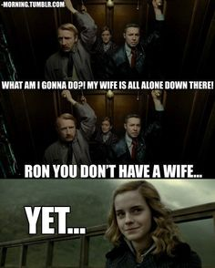haha.. i love how these actors did such a good job at pretending to be harry hermione and ron pretending to be these characters!