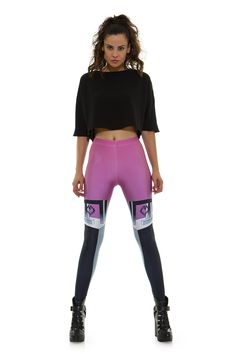 Leggings diseño exclusivo fabricado en España Modelo NYX PINK www.legx.es