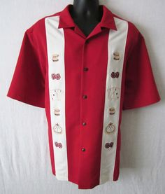 PARADISE COLLECTION....$24.49....Look your best, and be envied at the Craps table on your gambling night out! Take a look at this PARADISE COLLECTON men's shirt, size Large!  Only 1 available, so grab it before it's gone! As always, we offer FREE SHIPPING to U.S. customers! Please visit http://stores.shop.ebay.com/J-and-S-Menswear for more great deals on men's fashions!