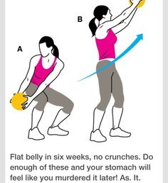 Flat Belly Fast–No Crunches! Four Moves That Guarantee Youll Get Abs In Six Weeks Flat Belly Fast–No Crunches! Four Moves That Guarantee Youll Get Abs In Six Weeks was last… Exercise Fitness, Excercise, Fitness Diet, Health Fitness, Women's Health, Health Tips, Physical Exercise, Fitness Fun, Exercise Equipment