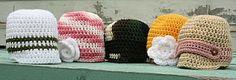 Brimmed newborn hat