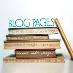 DIY design tips on blog pages from a graphic designer