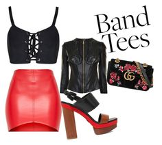 """Glam-Rock"" by chelle-mg ❤ liked on Polyvore featuring Versace, Michael Kors and Gucci"